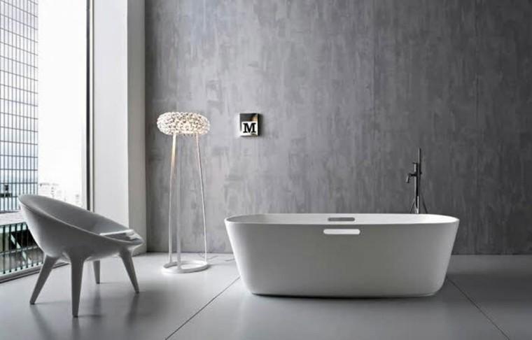 original diseño baño paredes cemento