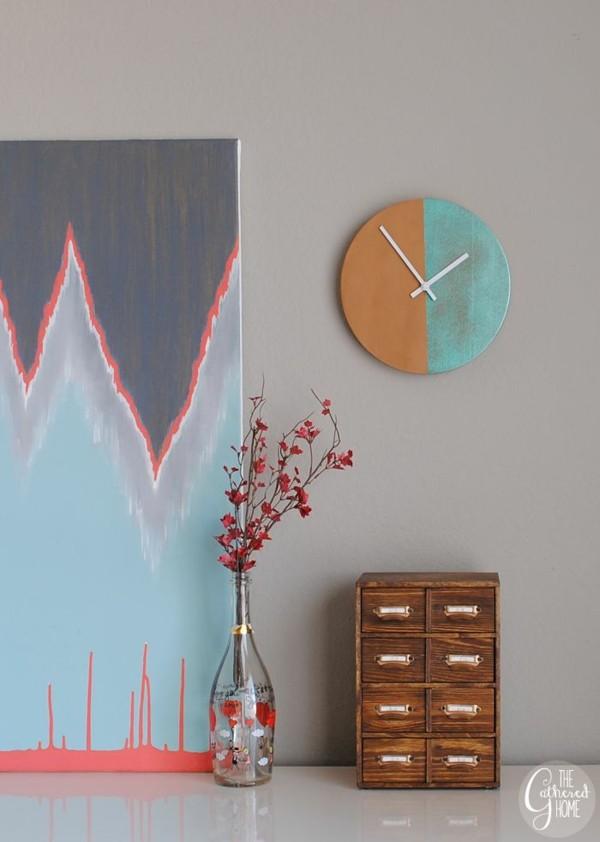 original diseño reloj casero colores