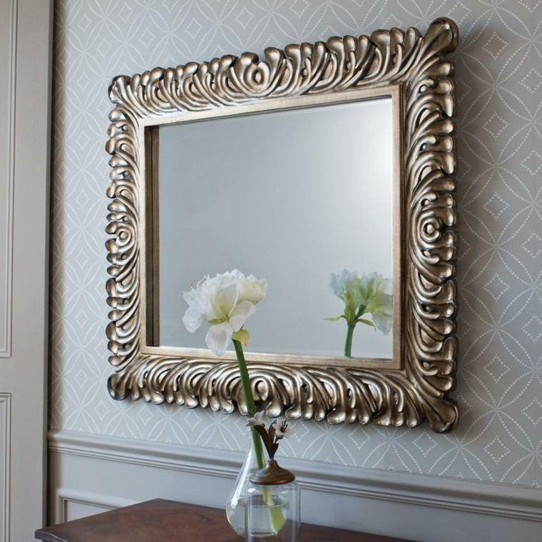 original espejo marco diseño retro