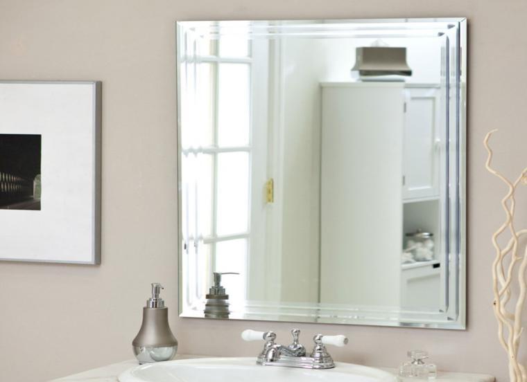 espejo de baño cuadrado retro