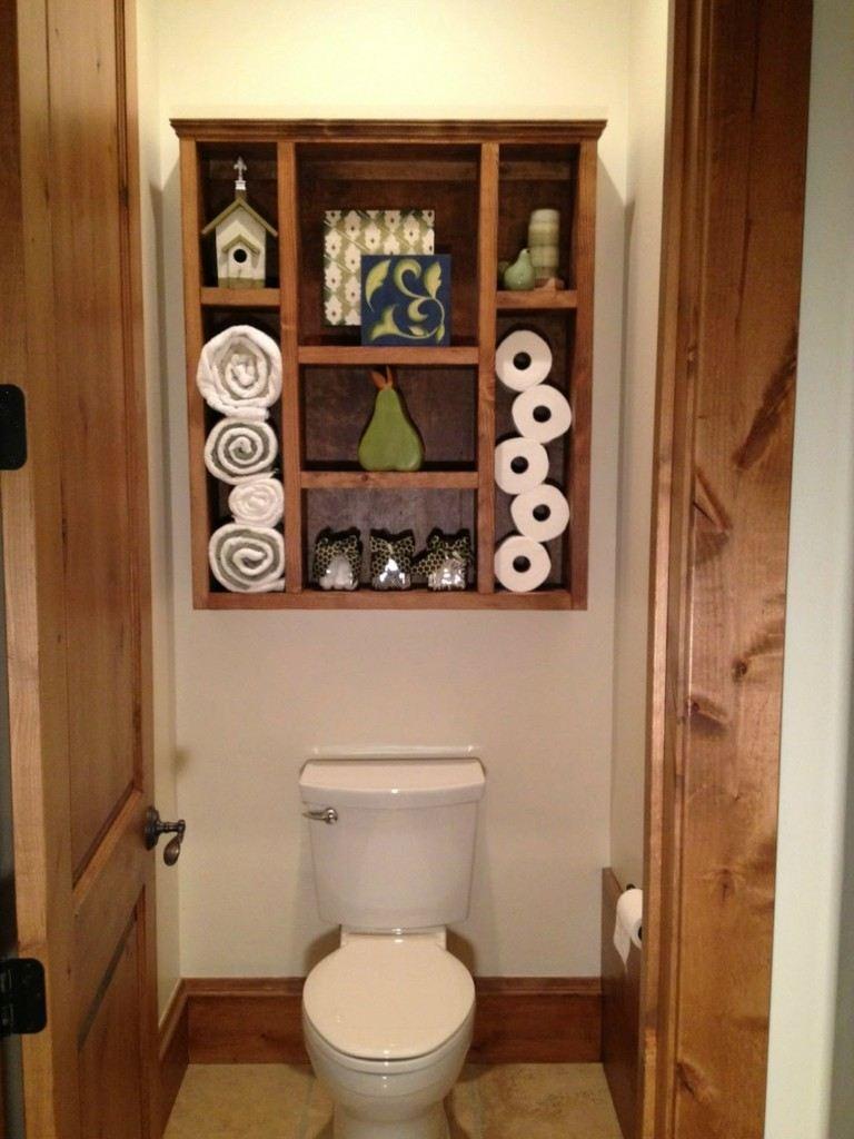 Estantes Para Baño En Madera:Original estante de baño de diseño casero