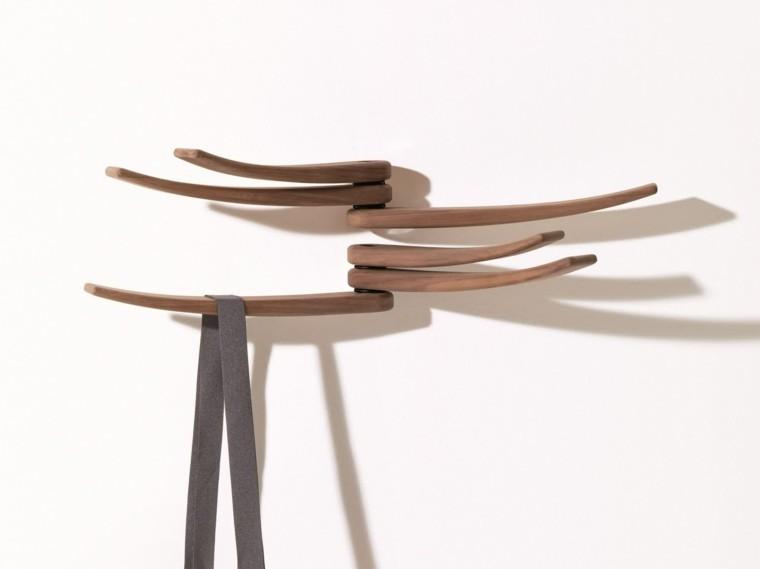 Percheros originales funcionales y decorativos 38 modelos - Percheros de pared de madera ...
