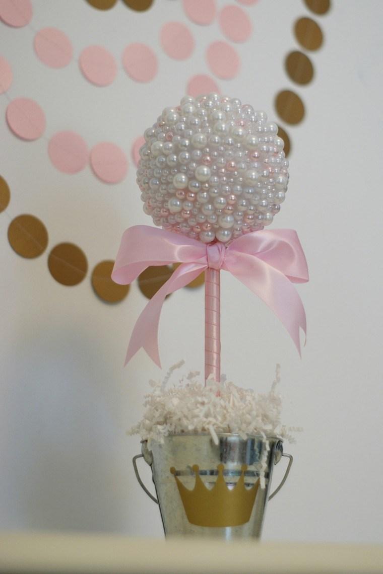 original centro mesa arbol perlas