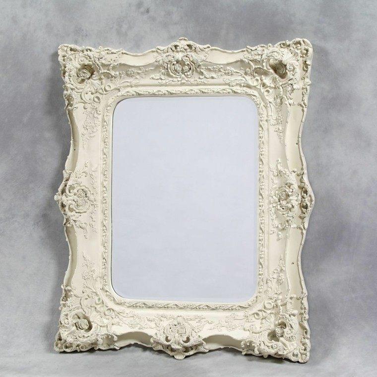 original diseño espejo blanco retro
