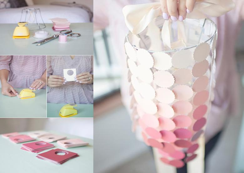 original farol adornos color rosa
