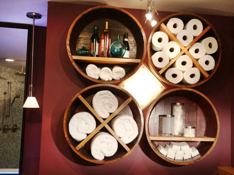 Estanterias Para Baños Originales:Estanterias para baños – 38 modelos prácticos y funcionales