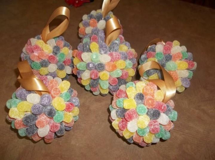 originales bolas navidad gominolas colores