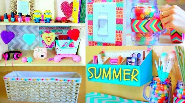 decoracion DIY orioginales adornos muchos colores
