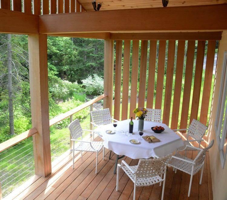 terraza moderna madera natural