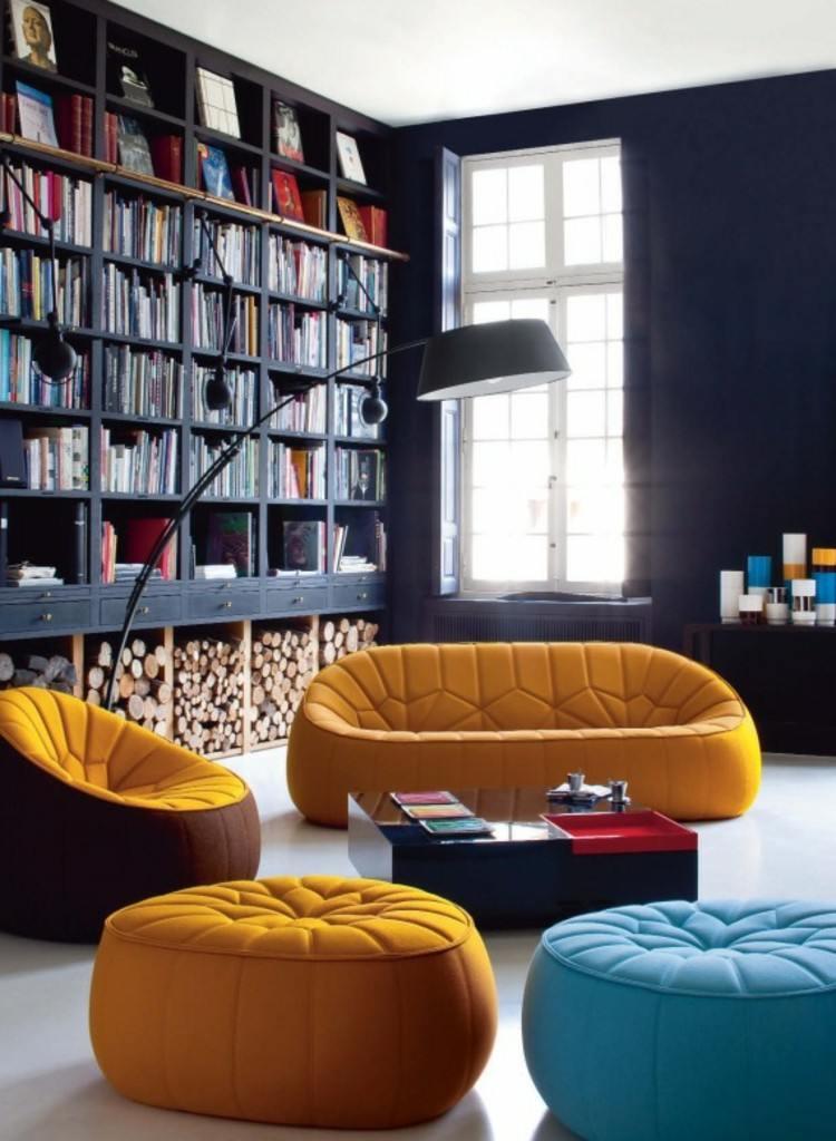 oscuro diseño interiores suelos libros