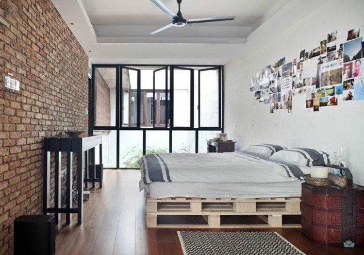 palets mobiliario creativo camas ventilador