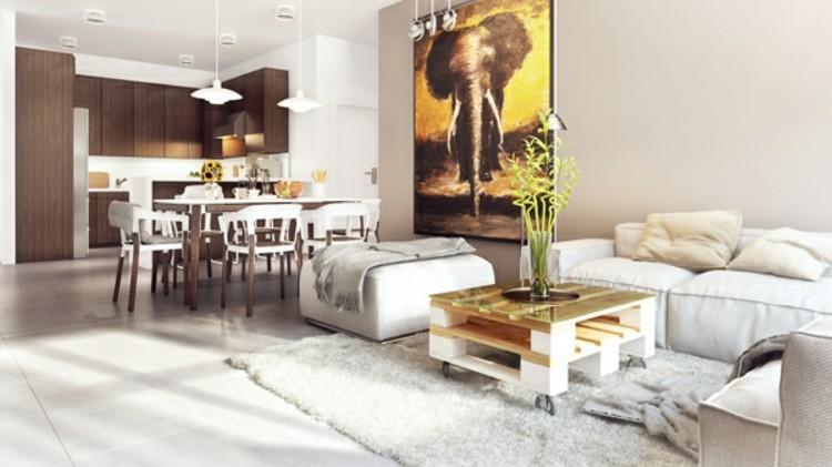 palets mobiliario creativo elefante cuadro