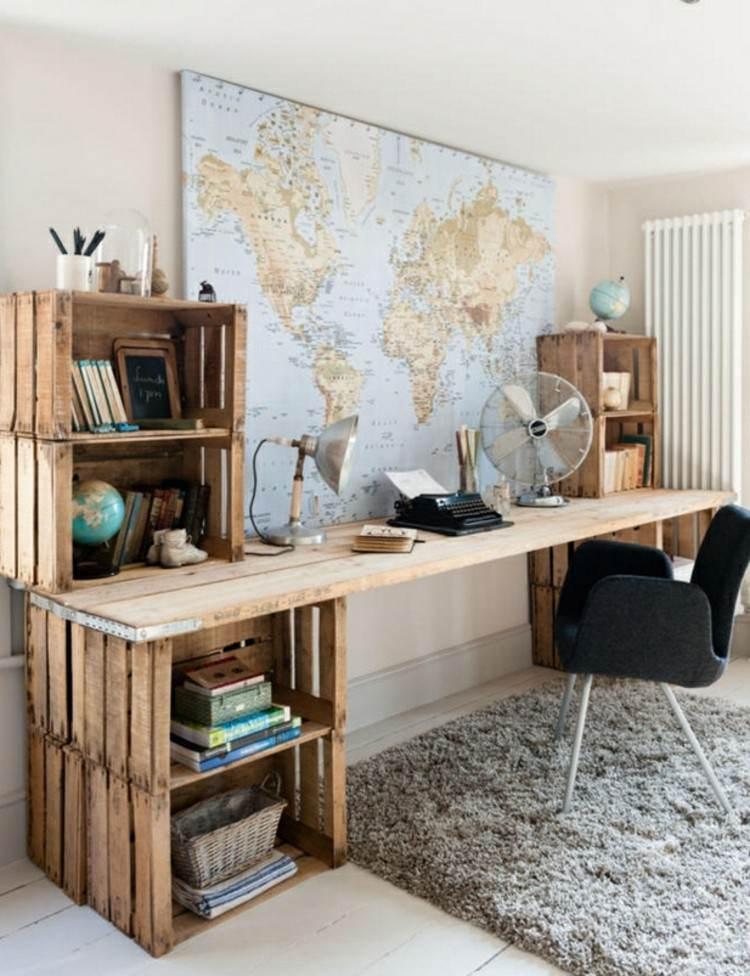 palets mobiliario madera estilos