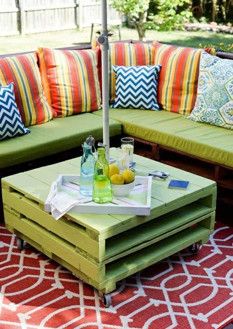 palets mobiliario creativo lineas colorido