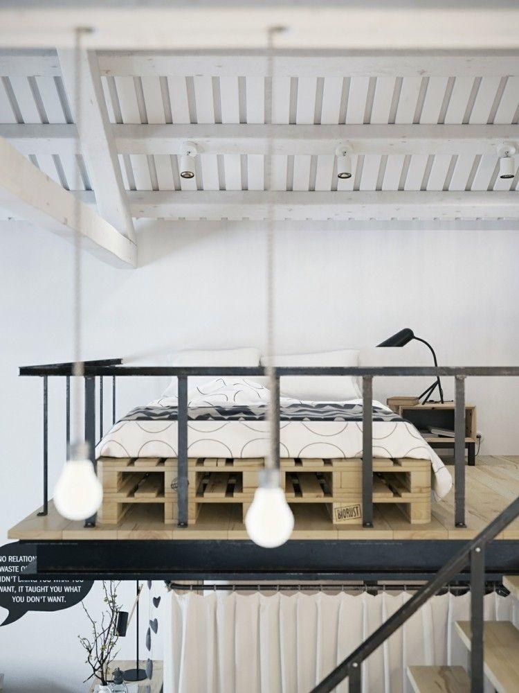 palets mobiliario creativo moderno cama