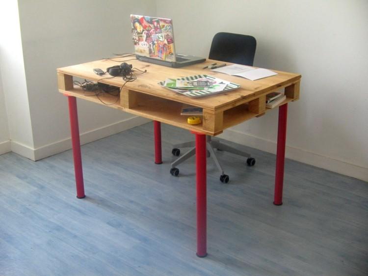 palets mobiliario creativo rojo moderno