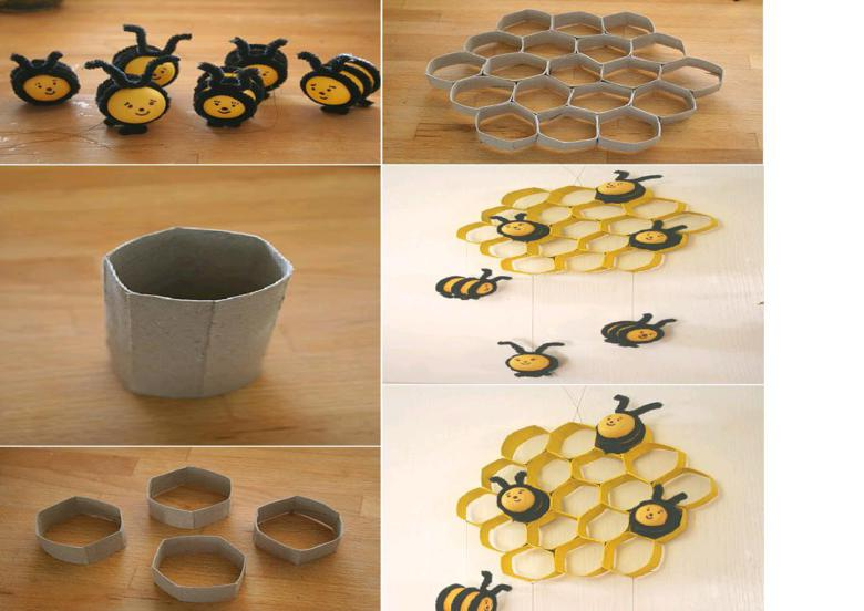 panal abejas decorativo carton