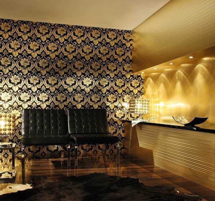papel de pared diseño dorados cueros elegantes