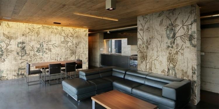 papel de pared diseño elegante creativo maderas