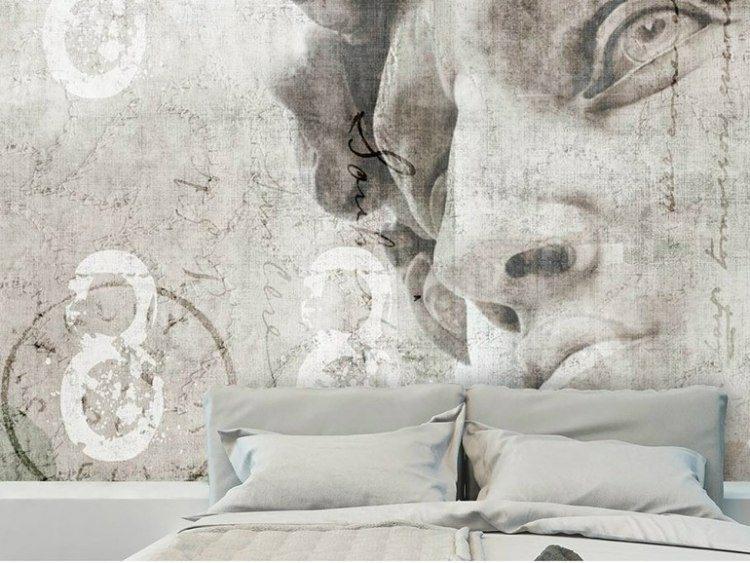 papel de pared diseño figuras habitacion moderno