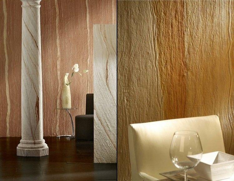 papel de pared diseño maderas texturizado columnas