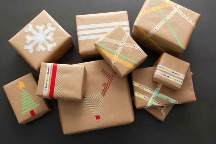 papel regalos decorado serpentina colorida ideas