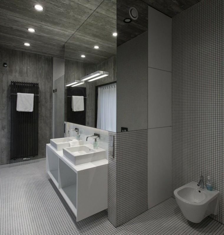 pared techo baño microcemento
