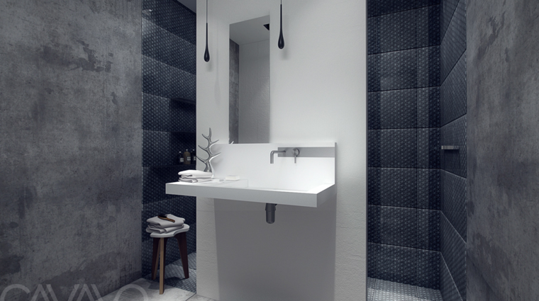 paredes baño azulejos microcemento