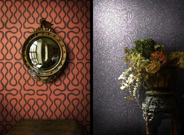 paredes decorado ideas lamparas espejo amarillo