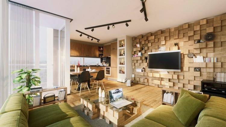 paredes ideas decorado estilos madera verdes