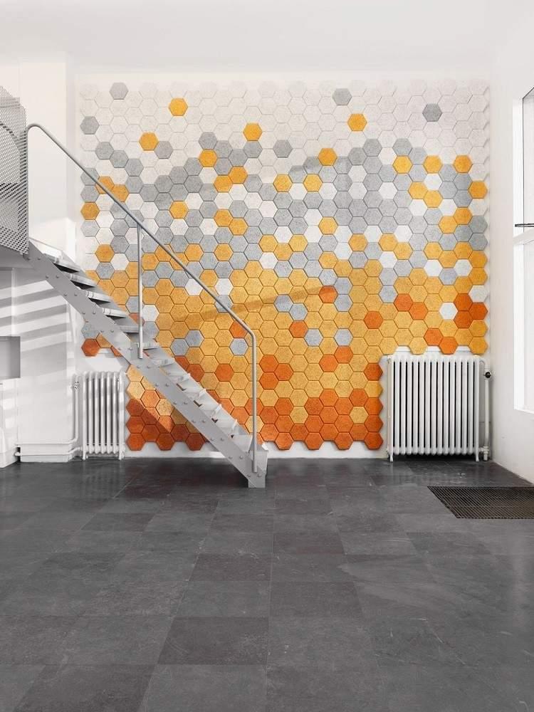 paredes ideas decorado naranja alto