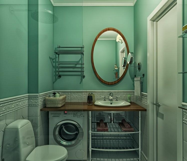 paredes ladrillos diseños madera espejos ovalado