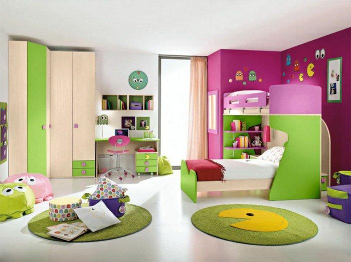 paredes rosa ideas verde diseño cojines