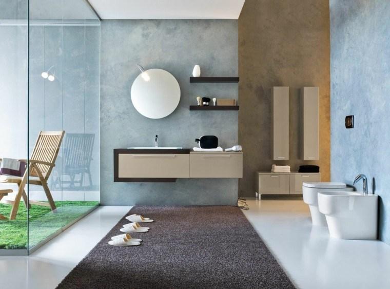 paredes baño pintadas estuco celeste