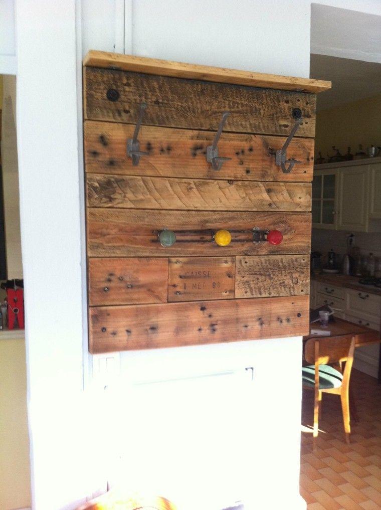 perchero casero diseño madera palet
