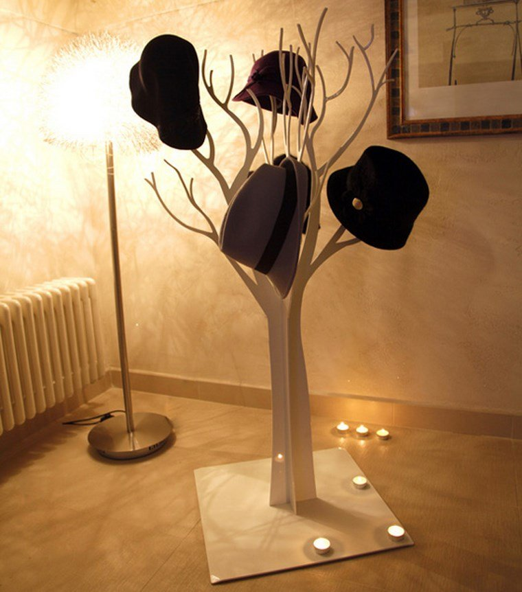 perchero original materiales increibles arbol ideas