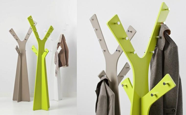 percheros modernos arbol diseño