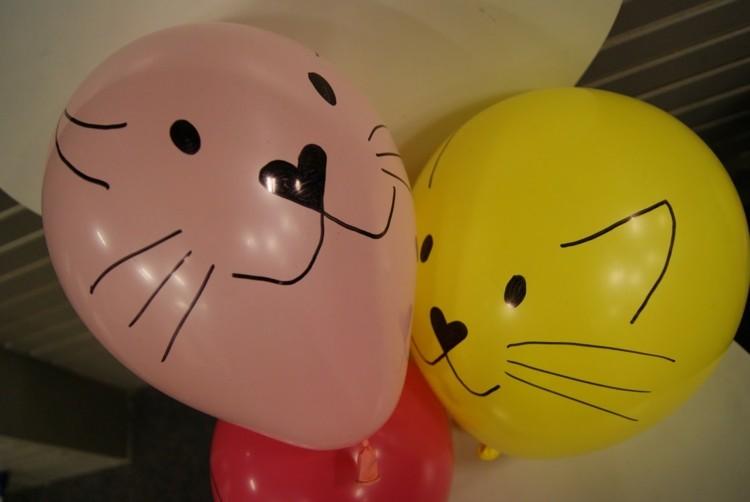 pintar caras globos colores