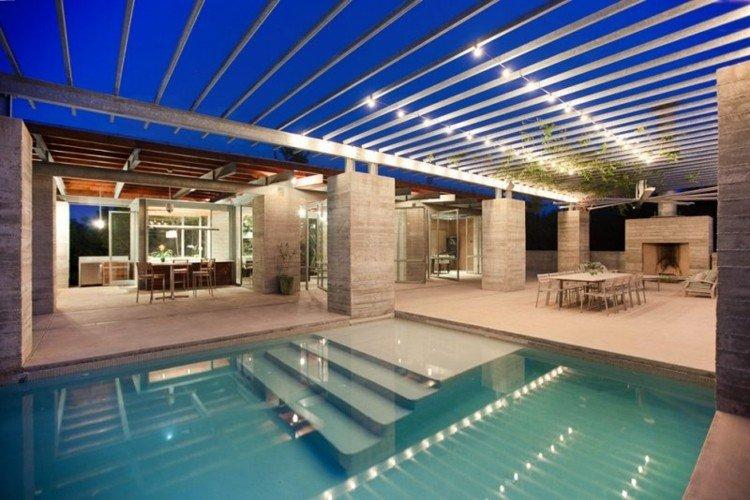 piscina paredes diseño esoecial plantas