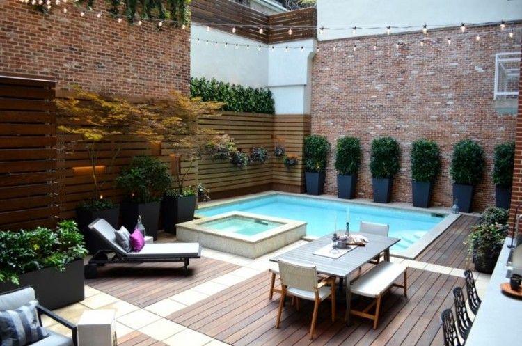 piscina paredes diseño ladrillos pequeño
