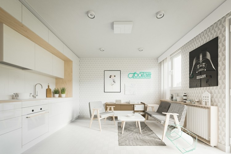 pisos pequeños decorado diseños cuadros