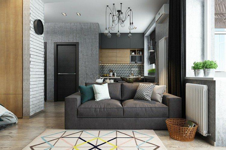pisos pequeños decorado alfombras canasta