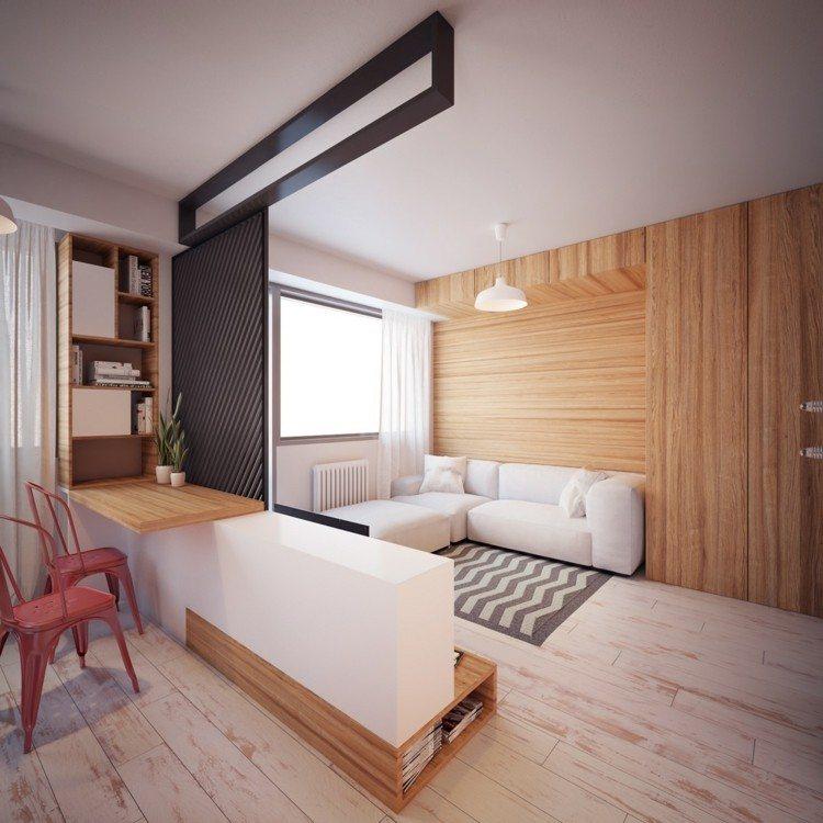 pisos pequeños decorado tablones lamparas