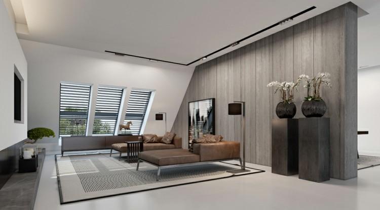 plantas paredes diseños decorado grises jarrones