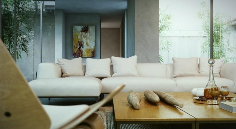 plantas paredes diseños decorado maderas