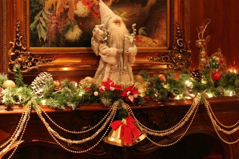 poyete chimenea decoración navidad