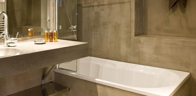 Baño Pequeno Microcemento:Microcemento baños con cubiertas frescas y atractivas