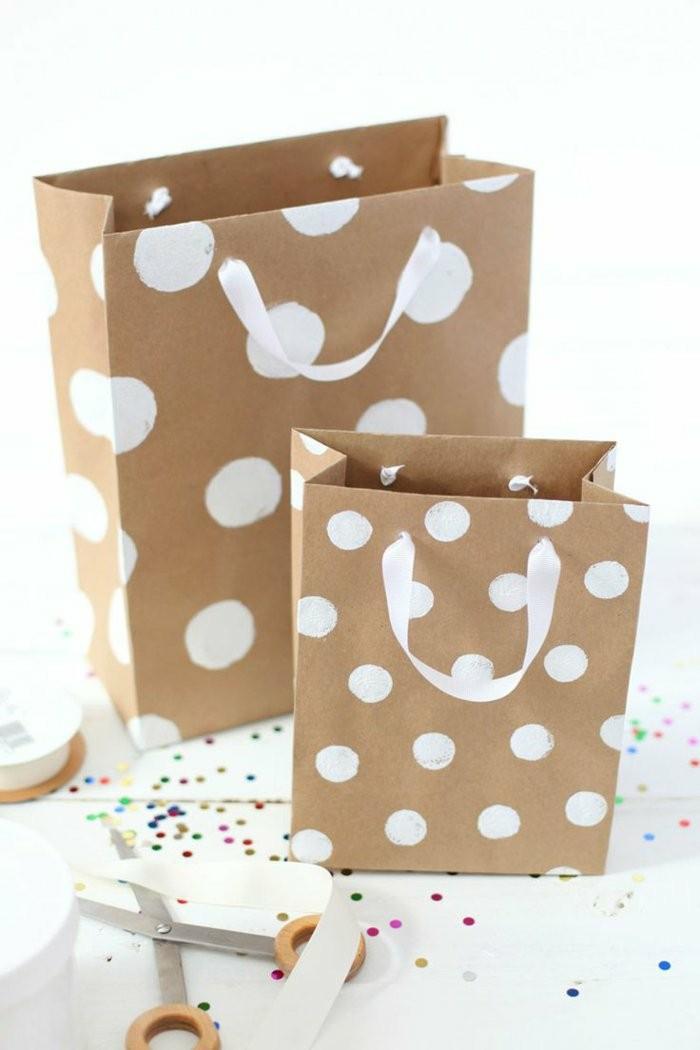 regalos personalizasdos bolasa regalo puntos blancos ideas