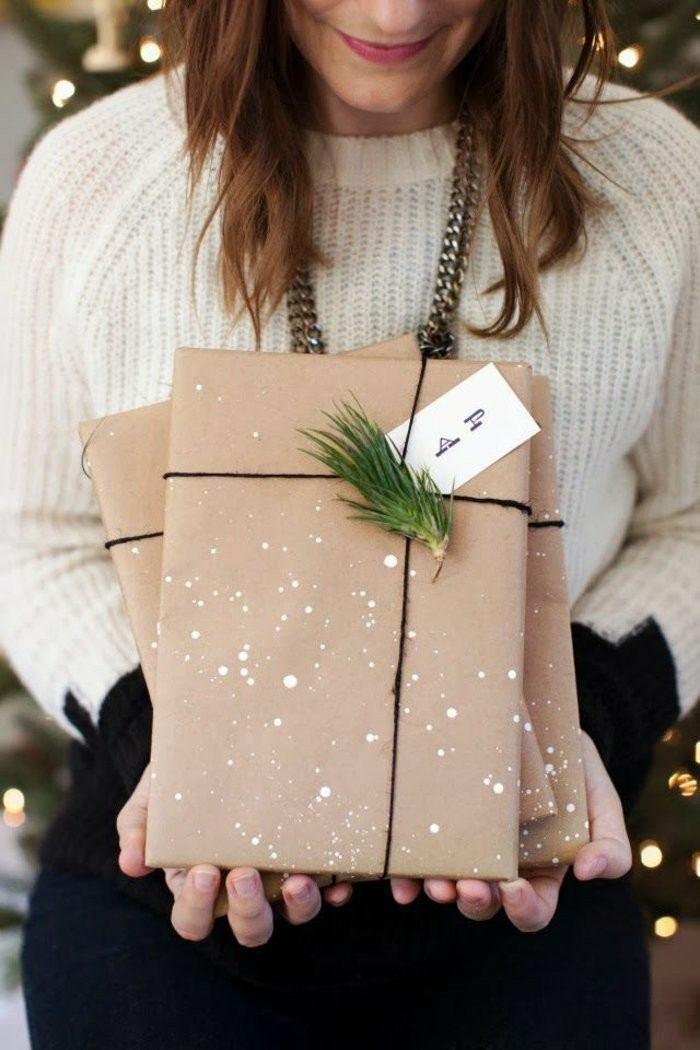 regalos personalizasdos papel simple abeto ideas