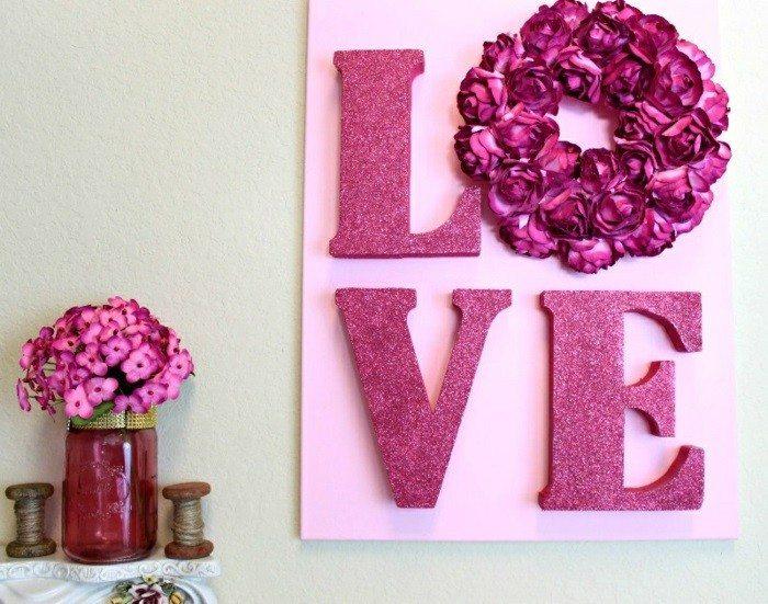 regalos preciosos enamorados colgar pared ideas